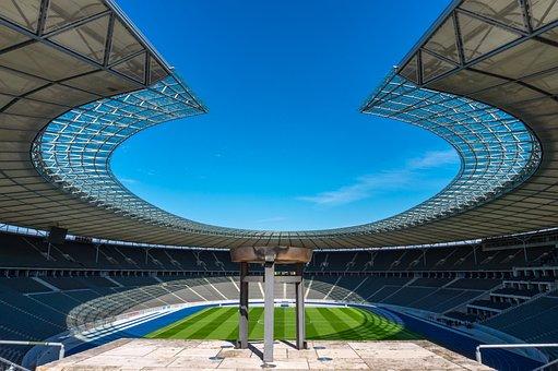 Stadium, Grandstand, Empty, Sport, Football