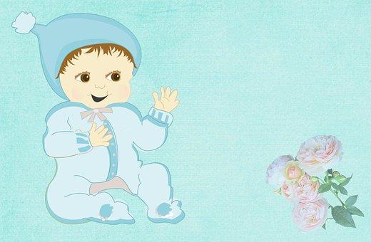Baby, Birth, Newborn, Greeting, Map, Postcard