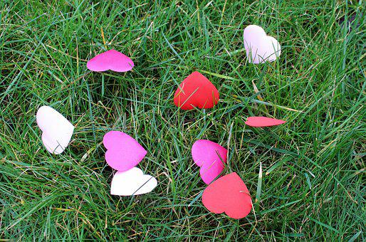 Heart, Hearts, Lawn, Nature, Season, At The Court Of