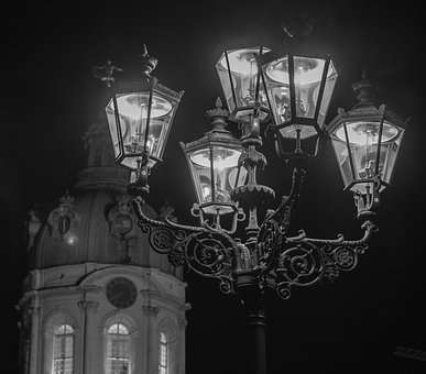 Lamp, Lantern, Illuminated, Light, Art, Architecture