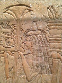 Museum, Ancient Egyptian, Art, Lotus Blossom