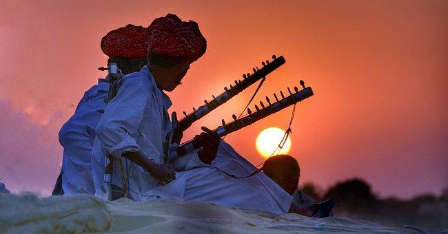 Rajasthan, Camel, Safari, India, Sunset, Entertainers