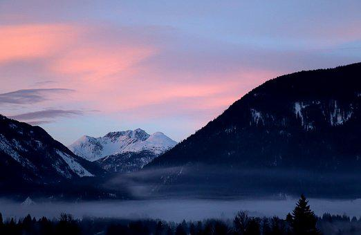 Snow, Clouds, Mountains, Nature, Fog, Winter, Wintry