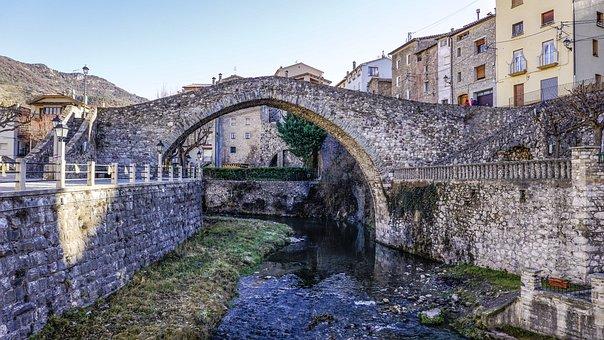 Bridge, Architecture, Old, Gothic, Stone, Travel