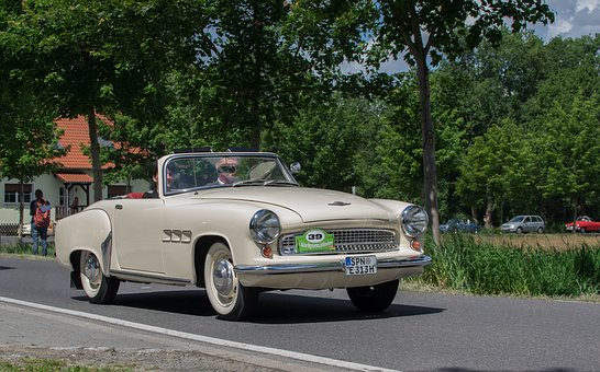 Auto, Vehicle, Road, Wartburg Castle, Oldtimer, Traffic
