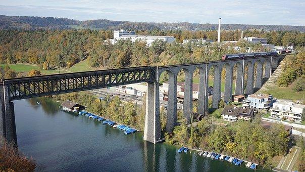 Waters, Bridge, River, Dam, Reservoir