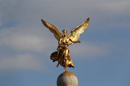Sky, Statue, Woman, Gold, Victory Statue