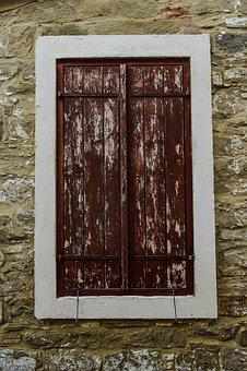 Window, Wood, Stone, Wall, Old, Wooden, Architecture