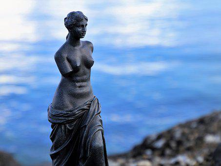 The Statue, Venus, Sculpture, Water, At The Court Of