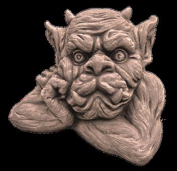 Figure, Dwarf, Gnome, Face, Ceramic, Sculpture, Statue