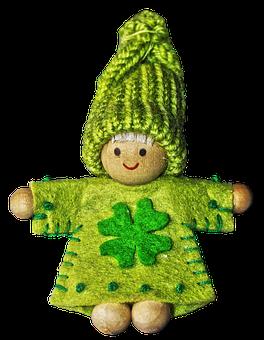 Imp, Figure, Luck, Four Leaf Clover, Luck Imp, Fabric