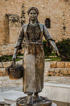 Fisherman's Wife, Woman, Octopus, Basket, Cypriot, Net