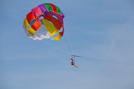 Parachute, Air, Sky, Fly, Pleasure, Freedom, Adventure