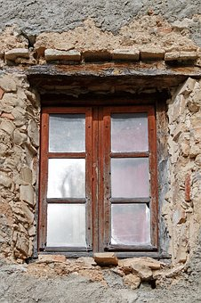 Window, House, Old, Wall, Architecture