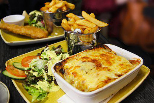 Irish Meal, Lasagne, Food, Meal, Fries, French Fries