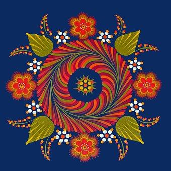 Hungarian, Mandala, Flower