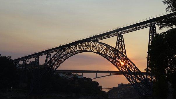 Bridge, No Person, Sky, Body Of Water, Travel