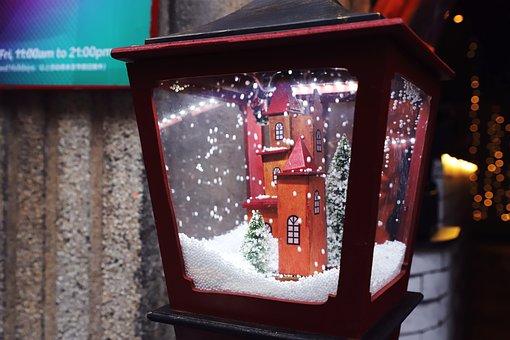 Illuminated, Old, Christmas, Window, Dark, Travel