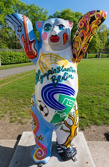 Berliner Bär, Figure, Bear, Sculpture, Art, Artwork