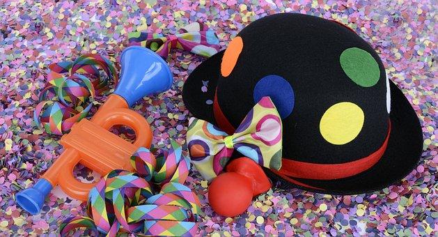 Hat, Confetti, Streamer, Colorful, Clown, Funny