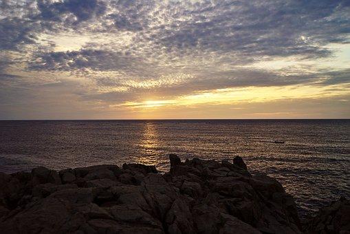 Sunset, Dusk, Waters, Dawn, Sea, Sun, Beach, Coast