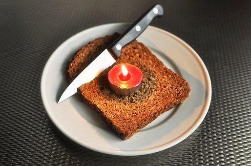 Bread, Food, Bakery, Tea Light, Hot, Red Tea Light