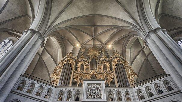 Church, Architecture, Cathedral, Religion, Organ