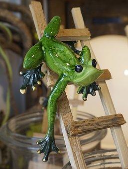 Wood, Figure, Frog, Deco