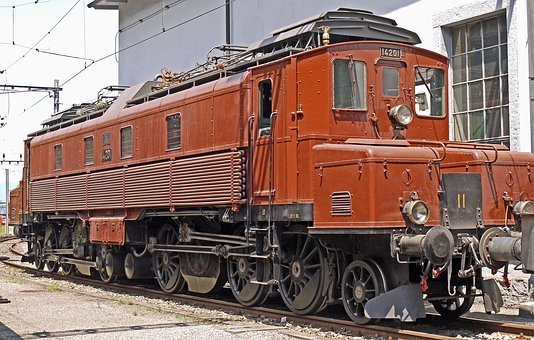 Electric Locomotive, Sbb Historic, Depot Of Erstfeld