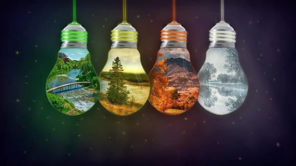 Gold, Desktop, Light, Spring, Summer, Autumn, Winter