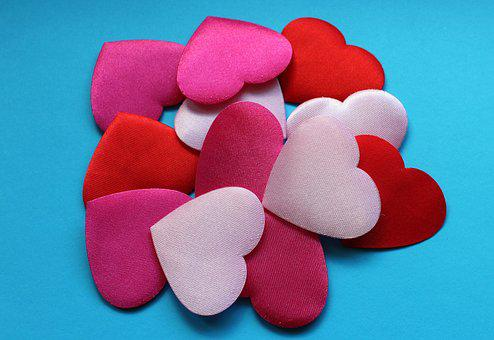 Heart, Hearts, Textile, Love, Valentine's Day, Shape