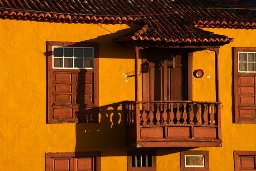 Home, Architecture, Wood, Window, Balcony, Spain
