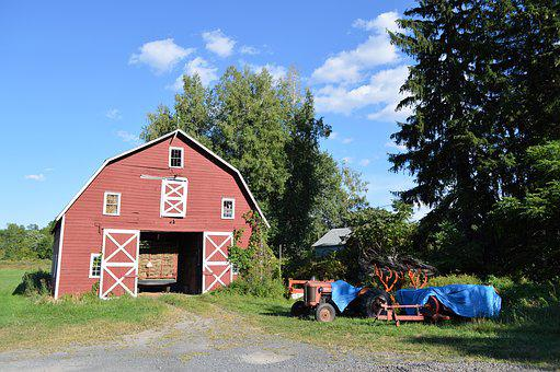Outdoors, Home, Barn, Wood, Of The Countryside