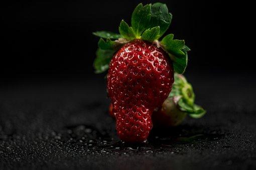 Fruit, Food, Strawberry, Dessert, Healthy, Leaf, Tasty