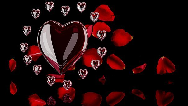 Heart, Love, Romance, Amorous, Background