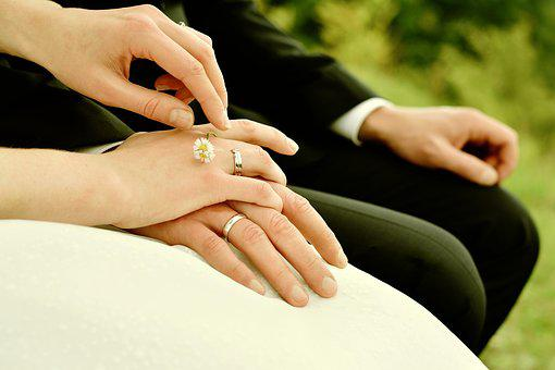 Hands, Bride And Groom, Rings, Marry, Wedding, Together