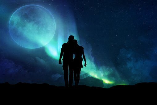 Moon, Astronomy, Sun, Sky, Outdoors, Together, Love