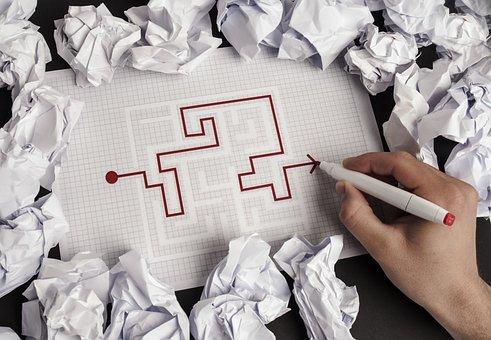 Human, Hand, Company, Paper, Solutions, Maze, Job