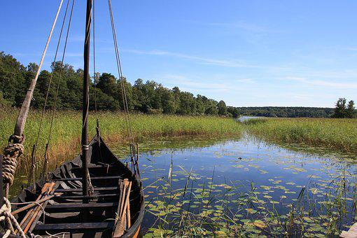 Waters, Wood, Nature, River, Lake, Summer, Landscape