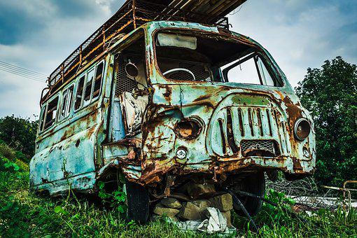 Abandoned, Rusty, Old, Car, Vehicle, Broken, Wreck