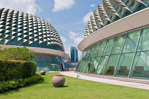 Architecture, Modern, Sky, Glass, Window, Singapore