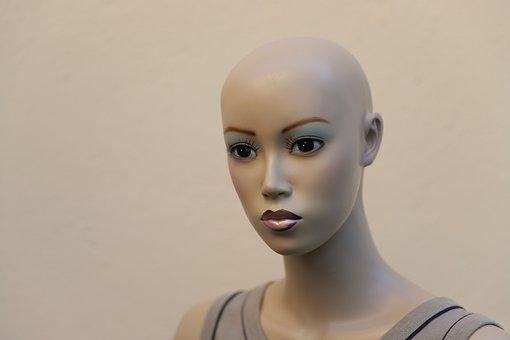 Portrait, Woman, Face, Mannequin