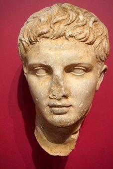 Sculpture, Art, Portrait, A, Human, Greece, Classic