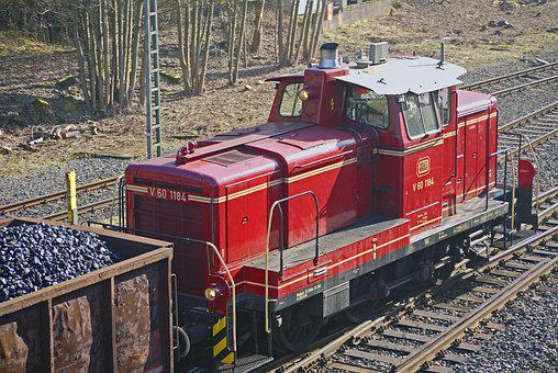 Diesel Locomotive, Switcher, V60, V 60, Coal Train