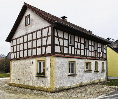 Old Town, Fachwerkhaus, Farmhouse, Building, Roof