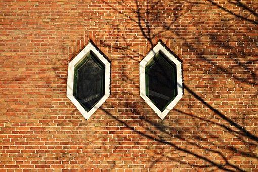 Window, Hexagonal, Hexagonal Window, Frame, Pane, Wall