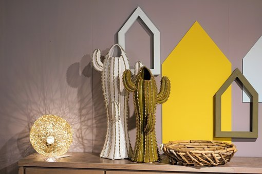 Flower Vase, Light, Interior Design, Decoration, Deco