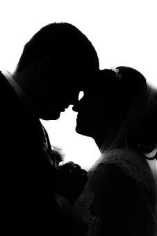 Silhouette, Human, With Backlight, Woman, Man, Love