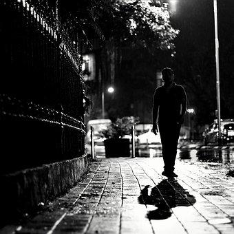 Street, People, Monochrome, Adult, Man, City, Rain