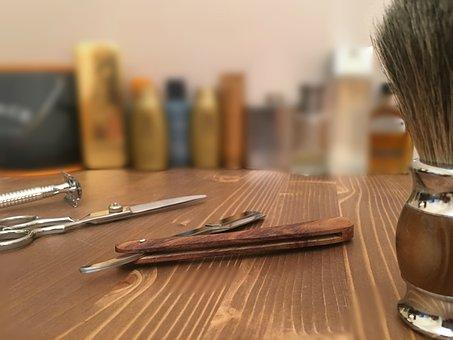Wood, Table, Barbershop, Tools, Barber